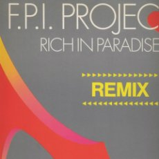 Discos de vinilo: F.P.I. PROJECT- RICH IN PARADISE. Lote 44179736