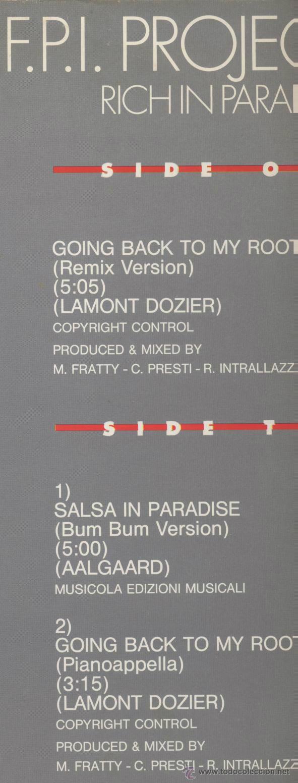 Discos de vinilo: F.P.I. PROJECT- RICH IN PARADISE - Foto 2 - 44179736