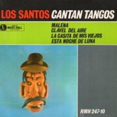 Discos de vinilo: SANTOS, EP, MALENA + 3, AÑO 1963. Lote 44185855