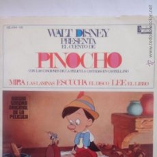Discos de vinilo: DISCO CUENTO DISNEY. PINOCHO (BSO)(1967) ESTRELLA AZUL. DAME UN SILBIDITO. MUY BUEN ESTADO. Lote 44189066