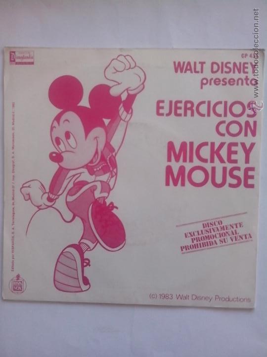 DISNEY. EJERCICIOS CON MICKEY MOUSE. PUPURRÍ MEZCLA GIMNÁSTICA (1983) COMO NUEVO (Música - Discos de Vinilo - EPs - Música Infantil)