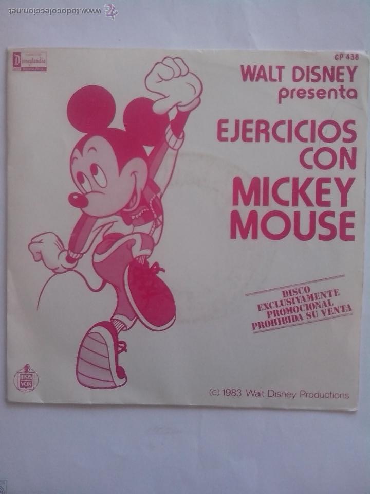 Discos de vinilo: DISNEY. EJERCICIOS CON MICKEY MOUSE. PUPURRÍ MEZCLA GIMNÁSTICA (1983) COMO NUEVO - Foto 2 - 58107150