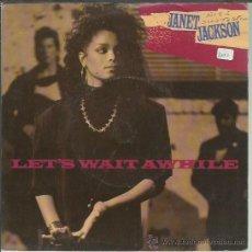 Discos de vinilo: JANET JACKSON - LET'S WAIT A WHILE / NASTY - SINGLE A&M UK 1987. Lote 44190791