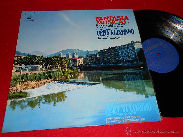 PEÑA ALCOYANO DE TOLOSA MANOLO LARRAÑAGA FANTASIA MUSICAL LP 1973 COLUMBIA PROMO EX (Música - Discos - LP Vinilo - Country y Folk)