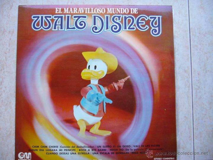 EL MARAVILLOSO MUNDO DE WALT DISNEY (Música - Discos - LPs Vinilo - Música Infantil)