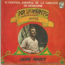 Discos de vinilo: JAIME MOREY SINGLE SELLO PHILIPS AÑO 1967. Lote 44211559