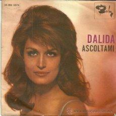 Discos de vinilo: DALIDA SINGLE SELLO BARCLAY EDITADO EN ITALIA.. Lote 44211638