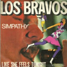Disques de vinyle: LOS BRAVOS SINGLE SELLO TIFFANY EDITADO EN ITALIA. Lote 44211747