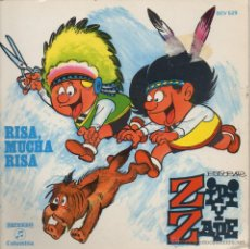 Discos de vinilo: DISCO TEBEO /ZIPI Y ZAPE / RISA MUCHA RISA / SINGLE 1971. Lote 44211808