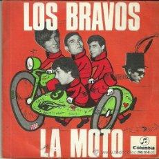 Discos de vinilo: LOS BRAVOS SINGLE SELLO COLUMBIA AÑO 1966 CARA B: LA PRIMERA AMISTAD. Lote 44211920