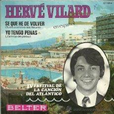 Discos de vinilo: HERVE VILARD CANTA EN ESPAÑOL SINGLE SELLO BELTER AÑO 1969. Lote 44211954