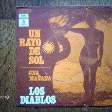 Discos de vinilo: LOS DIABLOS - UN RAYO DE SOL + UNA MAÑANA - EDICIÓN FRANCESA . Lote 44228191