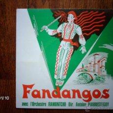 Discos de vinilo: RAMUNTCHO - FANDANGOS AVEC L´ORCHESTRE RAMUNTCHO . Lote 44228347
