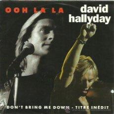 Discos de vinilo: DAVID HALLYDAY SINGLE SELLOSCOTI BROS AÑO 1991. Lote 44230205