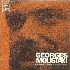 Discos de vinilo: GEORGES MOUSTAKI SINGLE SELLO EMI AÑO 1969. Lote 44230221