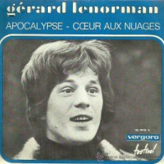 Discos de vinilo: GERARD LENORMAN SINGLE SELLO VERGARA AÑO 1970. Lote 44230276