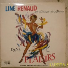 Disques de vinyle: LINE RENAUD AU CASINO DE PARIS. PATHÉ. FRANCIA. LP.. Lote 44237590