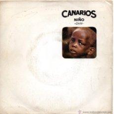 Discos de vinilo: CANARIOS, SG, CHILD (NIÑO) + 1, AÑO 1968. Lote 44238635