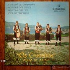 Dischi in vinile: GRUPO DE GAITAS OS CRUCEIROS - A VIRXEN DE GUADALUPE + 3. Lote 44239541