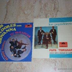 Discos de vinilo: LOS PAYADORES CON GIOVANNA - LOTE DE DOS DISCOS-. Lote 44244527