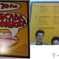 Discos de vinilo: DISCO VINILO LA DECADA PRODIGIOSA LOS AÑOS 70. Lote 44254605
