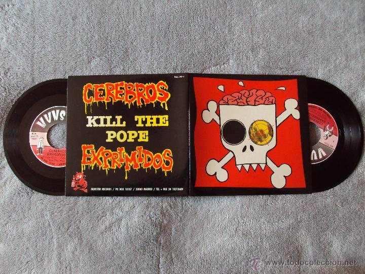 Discos de vinilo: CEREBROS EXPRIMIDOS, KILL THE POPE (MUNSTER 1992) DOBLE SINGLE - NUEVO - - Foto 2 - 44256106