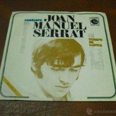Discos de vinilo: DISCO.:NOVOLA.-JOAN MANUEL SERRAT-PENELOPE/TIEMPO DE LLUVIA AÑO 1969. Lote 44257968