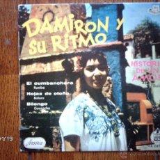 Discos de vinilo: DAMIRON Y SU RITMO - HISTORIA DE UN AMOR + 3. Lote 44268966