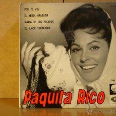 Discos de vinilo: PAQUITA RICO - POR TU VOZ / EL ARBOL GRABADO / MARIA DE LOS PECADOS / TU AMOR VERDADERO - 1964. Lote 44277853