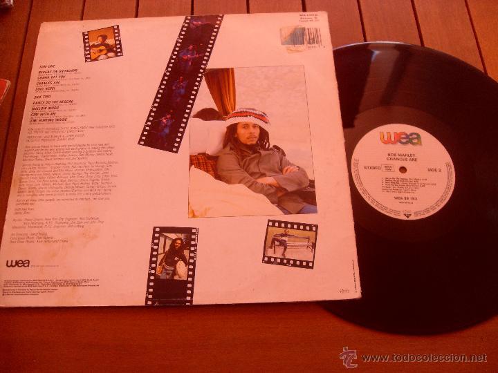 Discos de vinilo: BOB MARLEY LP CHANCES ARE. MADE IN GERMANY. 1981 - Foto 3 - 44285376