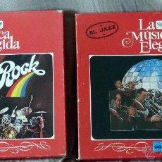 Discos de vinilo: LA MUSICA ELEGIDA EL JAZZ Y EL ROCK 2 ESTUCHES 8 LP´S 2 LIBRETOS. Lote 44287485