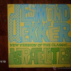 Discos de vinilo: DESMOND DEKKER - ISRAELITES + WHY FIGTH ? . Lote 44289323