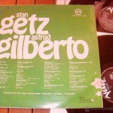 Discos de vinilo: STAN GETZ, ASTRUD GILBERTO DOBLE LP STARPORTRAIT. MADE IN SPAIN. 1987. Lote 44292476