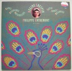 Discos de vinilo: REGINE CRESPIN Y PHILIPPE ENTREMONT (PIANO): RAVEL Y SATIE. CBS MASTERWORKS 1979. SIN ESCUCHAR. Lote 44295222