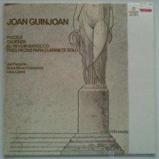 Discos de vinilo: JOAN GUINJOAN: PUZZLE, CADENZA, AU REVOIR BARROCO. COLUMBIA 1982. SIN ESCUCHAR. Lote 44295504