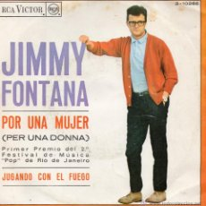 Disques de vinyle: JIMMY FONTANA - FESTIVAL DE RIO DE JANEIRO, SG, POR UNA MUJER (PER UNA DONNA) + 1, AÑO 1967. Lote 44298028