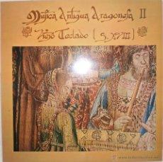 Discos de vinilo: MUSICA ANTIGUA ARAGONESA II (VIEJO TECLADO. SIGLO XVIII) J. L. GONZALEZ URIOL - CLAVE (LP, 1978). Lote 221661648