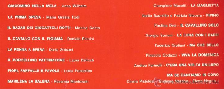 Discos de vinilo: LP GIROTONDISSIMO (MINI-CANZONI PER MINI-CANTANTI) Nº 1 ( CORO I BABY STARS DI NINY COMOLLI ) - Foto 2 - 44300612