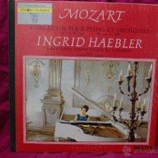 Discos de vinilo: INGRID HAEBLER-PIANO -MOZART CONCERTOS POUR PIANO ET ORQUETRA. Lote 44303055