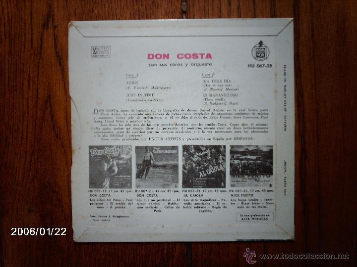 Discos de vinilo: don costa sus coros y su orquesta - adios + 3 - Foto 2 - 44312131