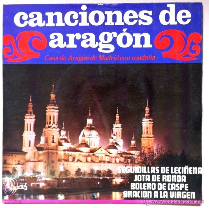 CANCIONES DE ARAGÓN - CASA DE ARAGÓN DE MADRID - SEGUIDILLAS DE LECIÑENA, BOLERO DE CASPE... 1968 (Música - Discos de Vinilo - EPs - Otros estilos)