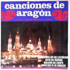 Discos de vinilo: CANCIONES DE ARAGÓN - CASA DE ARAGÓN DE MADRID - SEGUIDILLAS DE LECIÑENA, BOLERO DE CASPE... 1968. Lote 44312482