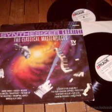 Discos de vinilo: SYNTHESIZER GREATEST DOBLE LP. THE CLASSICAL MASTERPIECES. MADE IN SPAIN. 1991. Lote 44313540