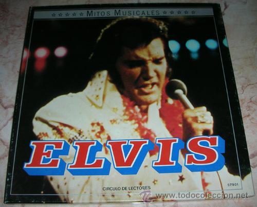 ELVIS PRESLEY - MITOS MUSICALES - CAJA CON 2 LPS CIRCULO DE LECTORES (Música - Discos - LP Vinilo - Rock & Roll)