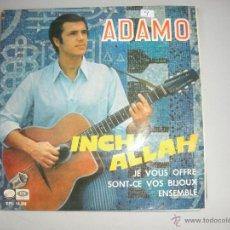 Discos de vinilo: MAGNIFICO SINGLE DE ADAMO. Lote 44319603