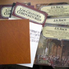 Discos de vinilo: ENCICLOPEDIA SALVAT DE LOS GRANDES COMPOSITORES VINILO 100 DISCOS LP MAS 100 FASCÍCULOS. Lote 140065134