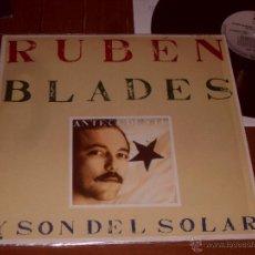 Discos de vinilo: RUBEN BLADES Y SON DEL SOLAR LP. ANTECEDENTE. MADE IN SPAIN. 1988.. Lote 44321914