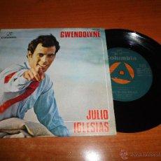 Discos de vinilo: JULIO IGLESIAS GWENDOLYNE EUROVISION 1970 CON TRIANGULO EN CENTRO SINGLE VINILO ESPAÑOL 2 TEMAS. Lote 44322591