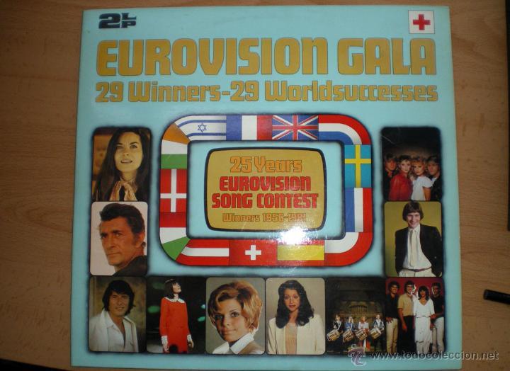 ANIVERSARIO 25 AÑOS FESTIVAL DE EUROVISIÓN 1956-1981 GANADORES 29 LP DOBLE 1981 POLYDOR (Música - Discos - LP Vinilo - Festival de Eurovisión)
