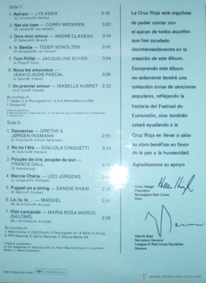 Discos de vinilo: Aniversario 25 años Festival de Eurovisión 1956-1981 ganadores 29 LP doble 1981 Polydor - Foto 3 - 235643825